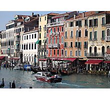 View From Rialto Bridge, Venice Italy Photographic Print