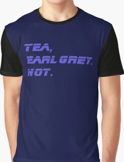 Tea, Earl Grey, Hot - T-Shirt Quote Graphic T-Shirt