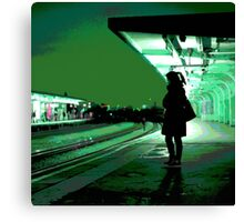Chiswick Station, Green Canvas Print