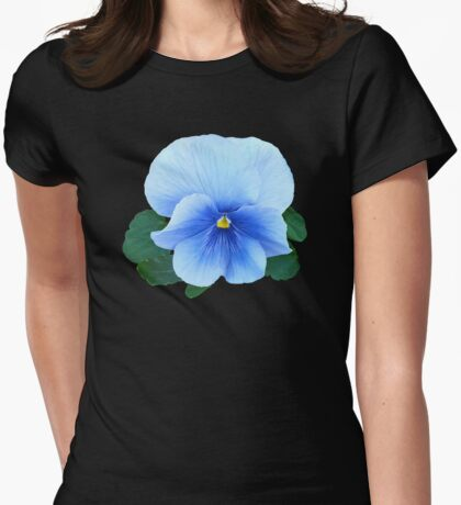Baby Blue Pansy Womens Fitted T-Shirt