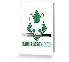 Rabbit Army Club Greeting Card