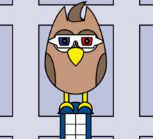 DOCTOR WHO DAVID TENNANT OWL CARD (NO NAME) Sticker