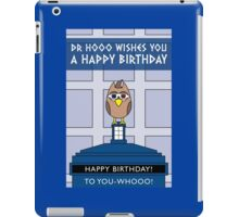 DOCTOR WHO DAVID TENNANT OWL CARD (NO NAME) iPad Case/Skin
