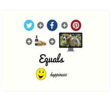 Social Media Happiness Art Print