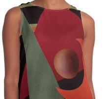 Beautiful modern geometrical ornamental red green black pattern texture Contrast Tank