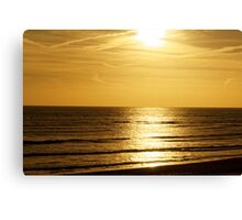 Sunset over the English Channel Canvas Print