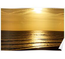 Sunset over the English Channel Poster