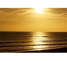 Sunset over the English Channel Photographic Print