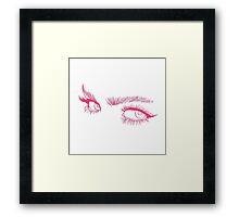Pink Eyes Framed Print