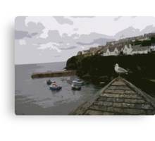 Port Isaac Seagull Canvas Print