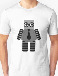 Cute Grey Geeky Robot Unisex T-Shirt