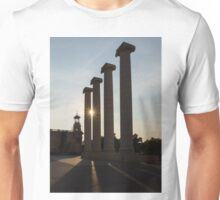 Hot Barcelona Afternoon - Magnificent Columns, Long Shadows and Brilliant Sun Flares Unisex T-Shirt
