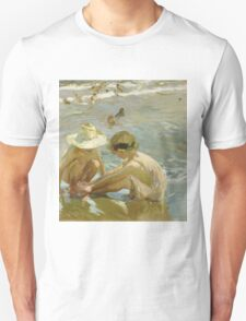 Joaquin Sorolla Y Bastida - The Wounded Foot 1909. Child portrait: cute baby, kid, children, Sea views, child, kids, lovely family, boys and girls, boy and girl, sea, childhood Unisex T-Shirt