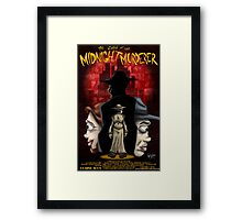 The Case of the Midnight Murderer: Scenes in Red Framed Print