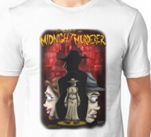 The Case of the Midnight Murderer: Scenes in Red Unisex T-Shirt