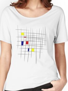Sketchy Mondrian Women's Relaxed Fit T-Shirt