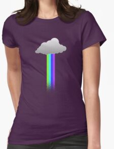 Cloud rainbow Womens Fitted T-Shirt