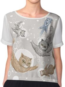Cat Chiffon Top