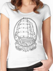 Traditional Ship Design Women's Fitted Scoop T-Shirt