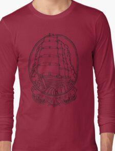 Traditional Ship Design Long Sleeve T-Shirt