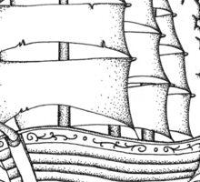 Traditional Ship Design Sticker