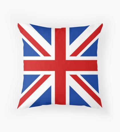 Union Jack (Red, White & Blue)  Throw Pillow