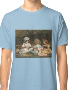 John Everett Millais - Afternoon Tea. Child portrait: cute baby, kid, children, pretty angel, child, kids, lovely family, boys and girls, boy and girl, mom mum mammy mam, childhood Classic T-Shirt