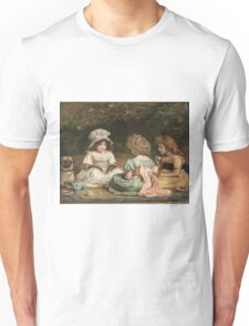 John Everett Millais - Afternoon Tea. Child portrait: cute baby, kid, children, pretty angel, child, kids, lovely family, boys and girls, boy and girl, mom mum mammy mam, childhood Unisex T-Shirt