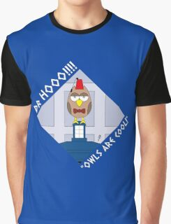 """DOCTOR HOOO (ELEVENTH DOCTOR) """"OWLS ARE COOL!"""" Graphic T-Shirt"""