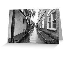 Rainy Alleyway Greeting Card