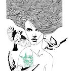 Birdie - Fineliner Illustration by InkheartLondon