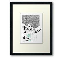 Birdie - Fineliner Illustration Framed Print
