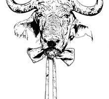 Buffalo - Fineliner Illustration by InkheartLondon