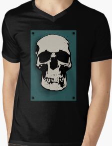 Skull - Sherlock Mens V-Neck T-Shirt