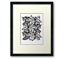 Flutter - Fineliner Illustration Framed Print
