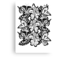 Flutter - Fineliner Illustration Canvas Print