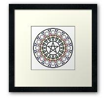 Pentagram (Color) Framed Print