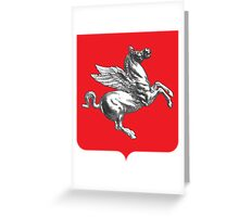 Coat of Arms of Tuscany, Italy  Greeting Card