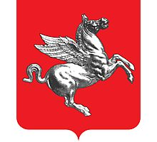 Coat of Arms of Tuscany, Italy  Photographic Print