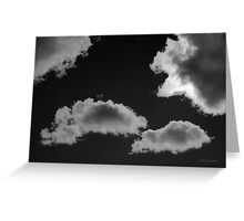 Cloudscape XVIII BW Greeting Card