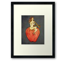 Sailor Jerry Pin-up Snake Charmer Framed Print