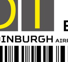 Destination Edinburgh Airport Sticker