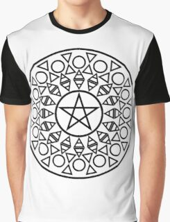 Pentagram (B&W) Graphic T-Shirt