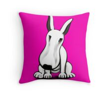 English Bull Terrier Tilt  Throw Pillow