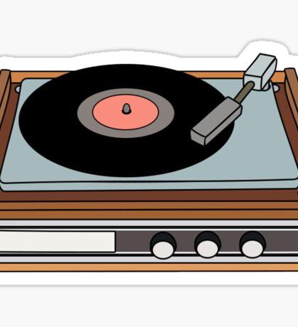 classic vinyl record player Sticker