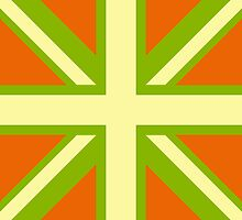 Union Jack Pop Art (Yellow, Green & Brown) by sher00