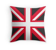 Union Jack Pop Art (White, Red & Black) Throw Pillow