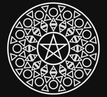 Pentagram (White) Kids Tee
