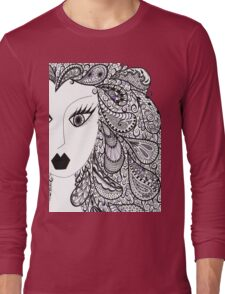 Paisley Hair with Hints of Purple Long Sleeve T-Shirt