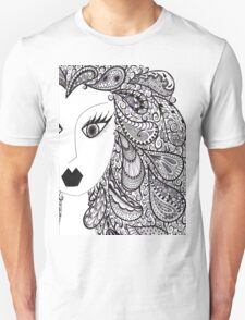 Paisley Hair with Hints of Purple Unisex T-Shirt
